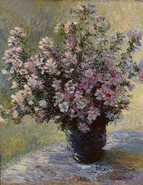 Bouquet of Mallows (Vase of Flowers), c.1881/82 by Monet | Painting Reproduction