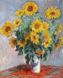 Bouquet of Sunflowers, 1881 by Monet | Painting Reproduction