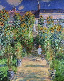 The Artist's Garden at Vetheuil | Monet | veraltet