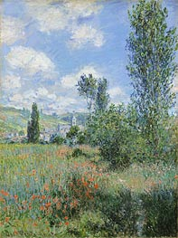 View of Vetheuil | Monet | Gemälde Reproduktion