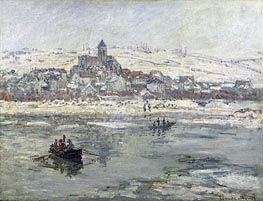 Vetheuil in Winter, c.1878/79 by Monet | Painting Reproduction