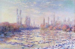 The Floating Ice, 1880 by Monet | Painting Reproduction