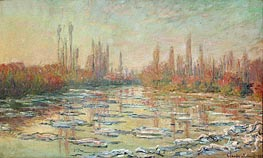 The Thaw on the Seine, near Vetheuil | Monet | Gemälde Reproduktion