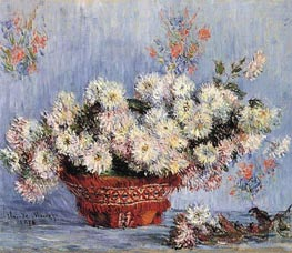 Chrysanthemums, 1878 by Monet | Painting Reproduction