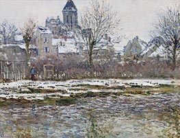 The Church at Vetheuil, Snow, c.1878/79 by Monet | Painting Reproduction