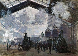 The Gare St-Lazare, 1877 by Monet | Painting Reproduction