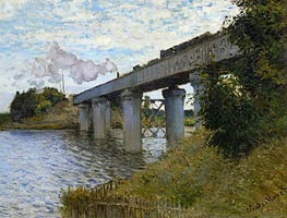 The Railway Bridge at Argenteuil, c.1873/74 by Monet | Painting Reproduction