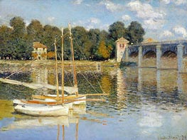 The Bridge at Argenteuil, 1874 by Monet | Painting Reproduction