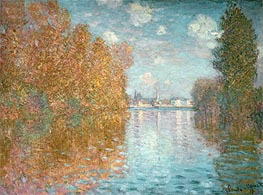 Autumn Effect at Argenteuil, 1873 by Monet | Painting Reproduction