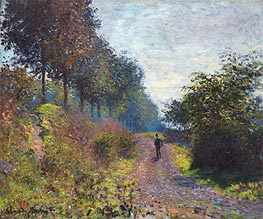 The Sheltered Path, 1873 by Monet | Painting Reproduction