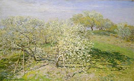 Spring (Fruit Trees in Bloom), 1873 by Monet | Painting Reproduction