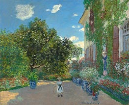 The Artist's House at Argenteuil, 1873 by Monet | Painting Reproduction