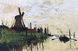 Windmill at Zaandam | Monet | Gemälde Reproduktion