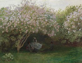 Lilacs, Grey Weather, c.1872/73  by Monet | Painting Reproduction