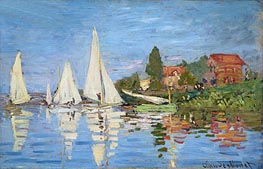Regatta at Argenteuil, c.1872 by Monet | Painting Reproduction