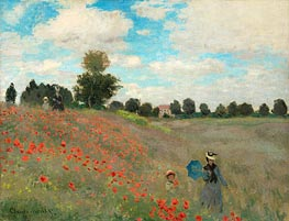 Poppies at Argenteuil, 1873 by Monet | Painting Reproduction