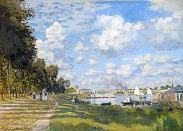 The Basin at Argenteuil, 1872 by Monet | Painting Reproduction