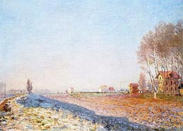 The Plain of Colombes, White Frost | Monet | Gemälde Reproduktion