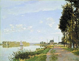 The Promenade at Argenteuil, c.1872 by Monet | Painting Reproduction