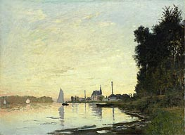 Argenteuil, Late Afternoon, 1872 by Monet | Painting Reproduction