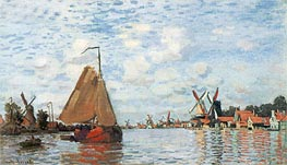 The Zaan at Zaandam, 1871 by Monet | Painting Reproduction