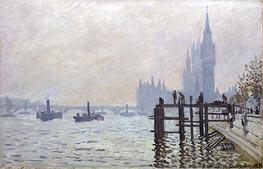 The Thames below Westminster, 1871 von Monet | Gemälde-Reproduktion