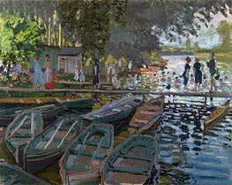 Bathers at la Grenouillere, 1869 by Monet | Painting Reproduction
