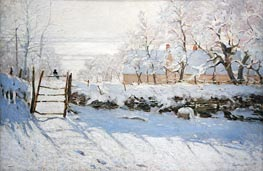 The Magpie, 1869 by Monet | Painting Reproduction