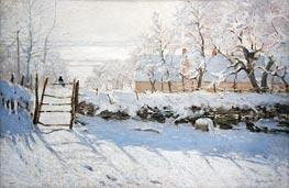 Die Elster, 1869 von Monet | Gemälde-Reproduktion