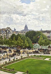Garden of the Princess, Louvre, 1867 by Monet | Painting Reproduction