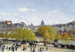 The Quai du Louvre, c.1866/67 by Monet | Painting Reproduction