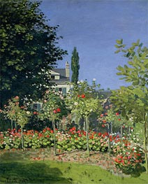 Flowering Garden at Sainte-Adresse, c.1866 by Monet | Painting Reproduction