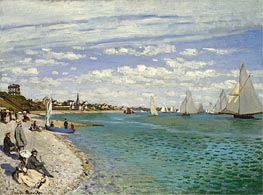 The Regatta at Sainte Adresse, 1867 by Monet | Painting Reproduction