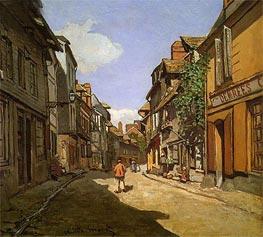 La Rue de La Bavolle at Honfleur, 1864 von Monet | Gemälde-Reproduktion