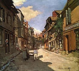 La Rue de La Bavolle at Honfleur, 1864 by Monet | Painting Reproduction