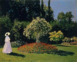 Woman in the Garden. Sainte Adresse, 1867 von Monet | Gemälde-Reproduktion