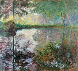 Pond at Montgeron, c.1876 von Monet | Gemälde-Reproduktion