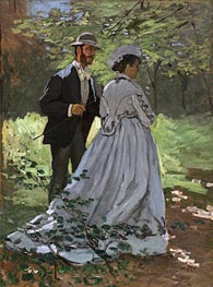 Bazille and Camille (Study for 'Déjeuner sur l'Herbe') | Monet | Gemälde Reproduktion