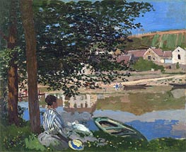On the Bank of the Seine, Bennecourt | Monet | veraltet