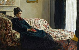 Meditation, Madame Monet Sitting on a Sofa | Monet | veraltet