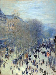 Boulevard des Capucines, c.1873/74 by Monet | Painting Reproduction