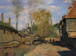 The Robec Stream, Rouen (Factories at Deville) | Monet | veraltet