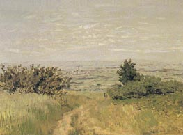 View of the Argenteuil Plain from San nois Hills, 1872 by Monet | Painting Reproduction