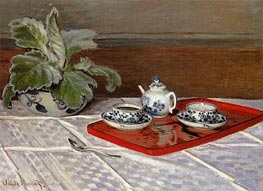 The Tea Set, 1872 by Monet | Painting Reproduction
