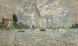 Regatta at Argenteuil, 1874 by Monet | Painting Reproduction