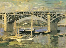 The Seine Bridge at Argenteuil, 1874 by Monet | Painting Reproduction