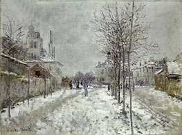 Boulevard de Pontoise at Argenteuil, Snow Effect, 1875 by Monet | Painting Reproduction