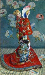 La Japonaise (Camille Monet in Japanese Costume), 1876 by Monet | Painting Reproduction