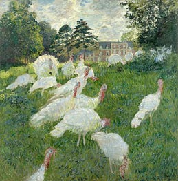The Turkeys, 1877 by Monet | Painting Reproduction