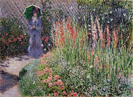 Gladioli, c.1876 by Monet | Painting Reproduction